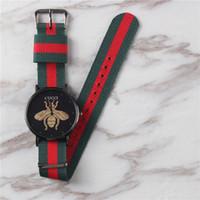 простые красочные часы оптовых-Новый топ роскошный человек мода красочные нейлон кварцевые часы для всех мужчин и женщин платье часы простые часы Relógio feminino Montre Orologio