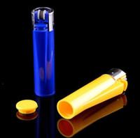 Wholesale Wholesale Lighter Cases - Creative lighter shape Secret Stash Box Hidden Compartment Pill Box Diversion Safe Storage Case money box Secret