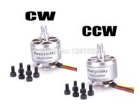 ingrosso motore brushless cw-1 pz / 2 pezzi 2312 920KV Motore Brushless CW / CCW per quadricottero F450