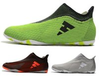 Wholesale flat tango shoes resale online - 2018 Best New X Tango Purespeed IC TECHFIT Mens Soccer Boots High Quality Soccer Shoes ACE IC Indoor Mens Cheap Football Shoes