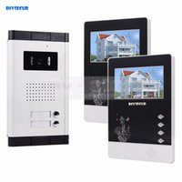 """Wholesale touch video intercom system - DIYSECUR 4.3"""" Apartment Video Intercom Door Phone Doorbell System IR Camera Touch Key For 2 Families"""
