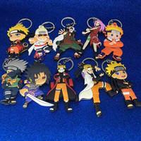 Wholesale rings naruto - New Naruto Keychain Plastic Naruto Uzumaki Sakura Action Figures Keychain Key Rings Fashion Jewelry Gift drop shipping 170887