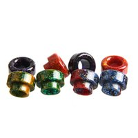 Wholesale 810 Thread Epoxy Resin Drip Tip Colorful cigarrillo electrónico Accessories Drip Tips for Goon RDA Kennedy RDA etc Thread Ecig Atomizers