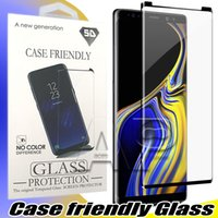 Wholesale tempered glass online - Case Friendly Tempered Glass For Samsung Galaxy S9 Note Note8 S8 Plus S7 Edge d Curved Case Version Phone Screen Protector