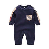 Wholesale baby clothing cartoon online - High Quality Baby Clothes Spring Summer Long Sleeved Cotton Romper Baby Bodysuit Clothes Children Clothing Cartoon Fashion Girl Jumpsuit Rom