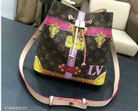 Wholesale crochet business - Bucket bag WOMEN SHOULDER BAG MESSENGER BAGs TOTES real leather fashion handbags shopping bag01