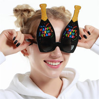 Wholesale Happy New Year Glasses - Funny Glasses Oversize Happy New Year Theme Decoration Sunglasses Christmas Party Eyeglasses Props Novelty Gifts Free Shipping 8 5sfb Z