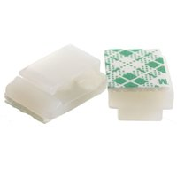 Wholesale white wire ties - Good deal-100XPlastic Wire Tie Rectangle Cable Mount Clip Clamp Self-adhesive White
