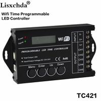 temporizadores de acuario al por mayor-Temporizador de iluminación programable del acuario rgb del regulador del tc420 del regulador del tiempo de TC421 WiFi, entrada de DC12 ~ 24V, 5 canales, máximo 5 * 4A