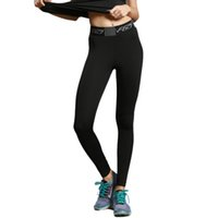 Wholesale breathable yoga pants online - Sports tights women s running fitness yoga pants solid color quick drying elastic breathable