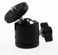 trípode de tornillo de luz al por mayor-Cabeza giratoria de 360 grados Mini cabeza esférica de 1/4