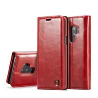 galaxie s4 marke ledertasche großhandel-Original caseme marke leder case magnet flip leder telefon case abdeckung für samsung galaxy s4 s5 mini s6 s7 sdede s8 s9 plus