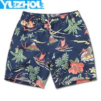 Wholesale sexy running shorts men - Board Shorts Men Swimming Trunks Sexy Print Flowers Mens Swimwear Beach Surfing Gym Running Short Joggers Bermudas Masculina