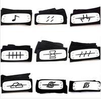 naruto kafa bandı cosplay toptan satış-11 stilleri ANIME Naruto Kafa Yaprak Köy Logosu Konoha Kakashi Akatsuki Üyeleri Cosplay Kostüm Aksesuarları mavi kırmızı siyah TO792