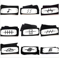 Wholesale naruto cosplay accessories for sale - styles ANIME Naruto Headband Leaf Village Logo Konoha Kakashi Akatsuki Members Cosplay Costume Accessories blue red black TO792