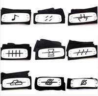 Wholesale naruto cosplay headbands online - styles ANIME Naruto Headband Leaf Village Logo Konoha Kakashi Akatsuki Members Cosplay Costume Accessories blue red black TO792