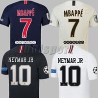 campeones kits de liga al por mayor-2018/19 Psg Champions League Camisetas de fútbol Neymars Jr Mbappe Cavani Futbol Camisetas Football Germain Camisetas Saint Kit Paris Maillot Camisa