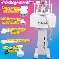 Wholesale mini cavitation slimming machine - Mini portable ultrasonic vacuum cavitation machine vacuum rf slimming system vacuum velashape slimming weight loss equipment