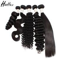 цвет хиара оптовых-Hiar утка бразильские пучки волос объемная волна волос ткет Бесплатная доставка естественный цвет Реми девственницы для чернокожей женщины