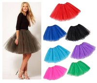 ingrosso lunghe gonne a dondolo chiffon-3pcs tutu adulto gonna donne tulle danza tutu ragazze principessa gonna lunga halloween fancy tutu dress up gonne 40 cm