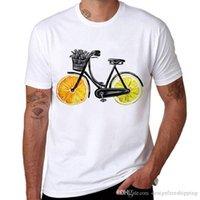 motosiklet fiyatları toptan satış-Ucuz Fiyat 100% Pamuk Tişörtlerin Ekip Boyun Yeni Stil Limon Bisikletleri Kısa Kollu Tee Gömlek Erkekler Için