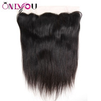 Wholesale suit bundles for sale - Group buy Brazilian Virgin Hair Extensions Straight x4 Ear to Ear Lace Frontal Silky Straight Top Remy Hair Closure suited with Human Hair Bundles