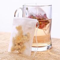 Wholesale empty teabags - Factory Price 1000pcs 8*10 cm Empty Tea Bags Heat Seal Filter Paper Herb Loose Tea Bags Teabag Single Drawstring Non-Woven Tea Bag