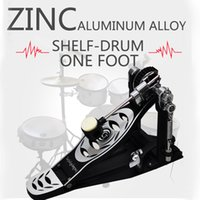 Wholesale Bass Single - regular version Zinc Aluminum Alloy Professional Kick Bass Pedal Single Chain Drive Foot Pedal and One foot Hammerhead for Adult Drum Black