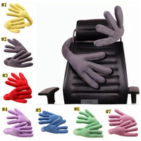 Wholesale travel pillows online - Travel Neck Pillow Multi Function Changeable Pillow of Bends Hand Shape Neck Support Pillow for Car Airplane Train Travel Gifts MMA1055
