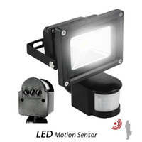 Wholesale Led Outdoor Floodlight Motion Sensor - 100w led floodlights PIR Infrared Motion Sensor 10W 20W 30W 50W led flood lights waterproof outdoor led wall pack lamps ac 110-240v