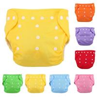pantalones de entrenamiento de algodón lavables al por mayor-Newbrons pañales para bebés pañales reutilizables pañales de tela para bebés bebé pantalones de entrenamiento lavables a prueba de agua de color sólido bragas pañal