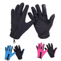 Wholesale warmest mitts resale online - Five Fingers Gloves Soft Adjustable Touch Screen Glove Keep Warm Windproof Non Slip Ski Mitt For Winter gc B
