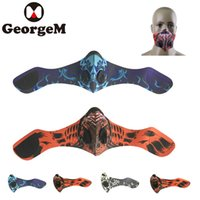 Wholesale cycling anti pollution mask resale online - GEORGEM Balaclava Windproof Anti Pollution Activated Carbon Cycling Mask Face Mask Cycling Skiing Fashing Skating