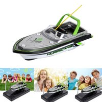 Wholesale Rc Airplane Electric Motors - Mini Boat Radio Electric Remote Control RC Super Mini Speed Boat Dual Motor for Kids Children Christmas Birthday Toy