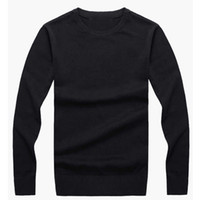 Wholesale best computer brands online - new best selling high end casual fashion round neck men s polo sweater brand cotton pullover men s sweater