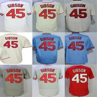 Wholesale womens bobs - Hot Sale Mens Womens Kids Toddlers St. Louis 45 Bob Gibson Best Quality Cheap Full Embroidery Logos Baseball Jerseys Size XS-6XL
