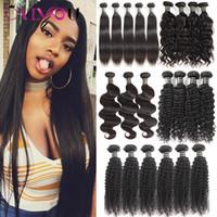 Wholesale mix deals - Mink Brazilian Peruvian Malaysian Indian Deep Curly Virgin Hair Bundle Deals Body Wave Kniky Curly Human Hair Weave Bundles Cheap Extensions