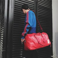 homens do saco do japão venda por atacado-Japão Cor Olid PU Homens / Mulheres Bagagem de Grande Capacidade de Viagem de Grande Capacidade Prático Cinto Sapatos Unisex Portátil Crossbody Bag