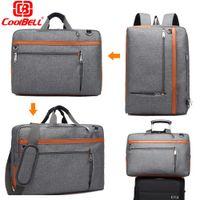 Wholesale 12 Laptop Shoulder Bag - CoolBELL 17 17.3 Inch Laptop Backpack Convertible Backpack Shoulder bag Messenger Bag Laptop Case Business Briefcase Handbag