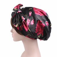 Wholesale magic beanie - Satin No Eaves Shower Cap Magic Quick Dry Hair Towel Absorbing Bathing Hats Cover Eco Friendly Caps With Multicolor 9 31gf jj