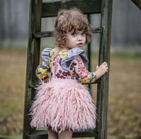 Wholesale Kid Girl Woolen Dresses - 2018 ins baby girls skirts kids winter autumn faux wool skirt children fashion woolen pink dress princess clothes Free DHL KTS06