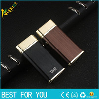 Wholesale brand men lighter for sale - Group buy New hot Tiger brand double arc pulse lighter windproof rechargeable USB lighter metal lighters with gift box for man