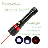 Lanterna Tatica Flashlight 18650 lanterna x900 Q5 led IR Laser Torch Rechargeable flashlight self defense linterna Led