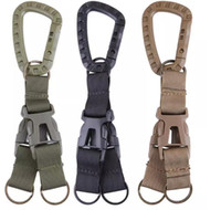 Wholesale wholesale travel systems - Carabiner Tactical Backpack Belt Buckle Webbing Hook Buckle Hanging System Molle Waist Belt Buckle Outdoor Tools 3 Colors