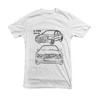 esboço de moda venda por atacado-Moda Impressão de Alta Qualidade Top Tee 100% Algodão X-Tipo Esboço Do Carro Camiseta Preto Branco T de Alta Qualidade para o Presente