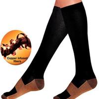 socken anti müdigkeit großhandel-Komfortable Relief Wunder Kupfer Nylon Anti-Fatigue Compression Socks Unisex Frauen Männer Anti Fatigue Magic Socken
