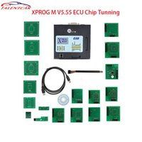 Wholesale Xprog Box - Latest Version XPROG-M 5.55 Programmer Black Metal Box 5.55 ECU Programmer Xprog Higher Version of Xprog 5.50 XPROG-M 5.50