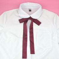 fotos das meninas doces venda por atacado-JK Bow Tie Clássico Japonês High School Meninas Neck Tie Collar Corda Cor Sólida Doce Preppy Chique Graduação Foto Preto