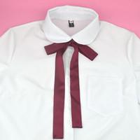 pajaritas de graduación al por mayor-JK Bow Tie Classic Japanese High School Girls Neck Tie Collar Cuerda Color sólido Dulce Preppy Chic Graduación Foto Negro