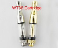 Wholesale Drip Heads - 2018 Newest WT36 Glass Cartridge Vape Ceramic Coil Head Gold Silver Metal Drip Tip CE3 0.5ML 510 CCELL G5 Bud Preheat Battery